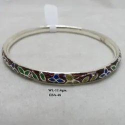 92.5 Sterling Silver Enamel Bangle