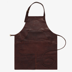 Brown Leather Safety Apron