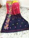 Handloom Cotton Silk Embroidered Sarees