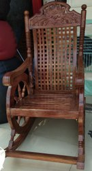 Teak Colour Wooden Rocking Chairs