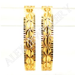 Round Party,Wedding Gold Plated 2 Piece Bangles