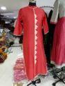 Lasted Designer printed silk kurti