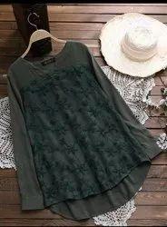 Ladies Cotton Long Top