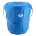 Plastic Bucket With Steel Handle 9 Ltr