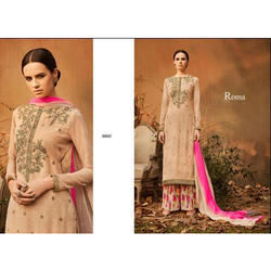 Ladies Embroidered Long Suit