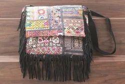 Vintage Banjara Women's Leather Cross Body Bag