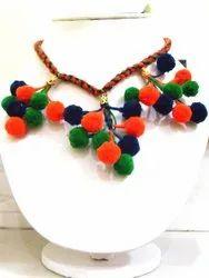 Decorative Pom Pom Jewelry