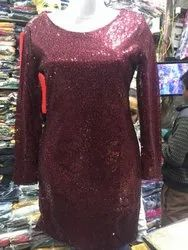 Ladies Sequence Long Top