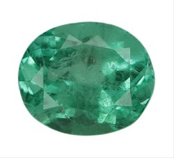Oval - Cut Attractive Lustrous Colombian Emerald