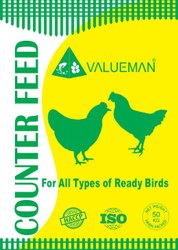 Valueman Poultry Feed - Counter Feed - Crumble/Pellet  50 Kg Bag