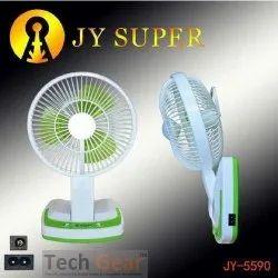 Tech Gear 5590 Folding Fan with 21 SMD LED Lights Rechargeable Table Fan