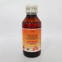 Ambroxol Hydrochloride, Levosalbutamol Sulphate Guaiphenesin & Menthol Syrup