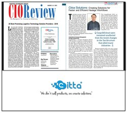 Citta Solutions in CIO Review Magazine