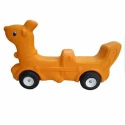 Yellow Frp Dual Ride On Toy, 2-5 Years, Size/Dimension: 36x8.5x22.5 Inch