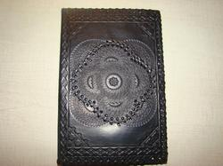 Black Embossed Handmade Leather Journal