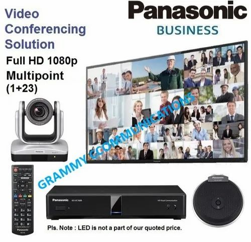 Panasonic Video Conferencing System: Multipoint 24-Sites Connection with 12x Optical Zoom