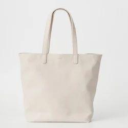 White Plain Canvas Tote Bag