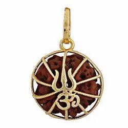 Five Rudraksha Pendant