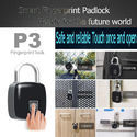 Mouse over image to zoom Fingerprint-Padlock-Keyless-Door-Lock-Biometric-Waterproof-IP65-Smart-Bag-