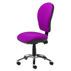 Armless Office Pink Chair