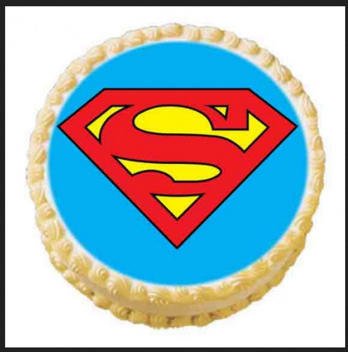 Superman Logo For Cake - Real Clipart And Vector Graphics •