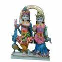 18 Inch Marble Radha Krishna Statues