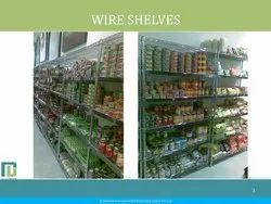 Wire Shelves Supermarket Racks