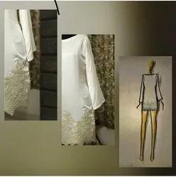 Pristine white shift dress