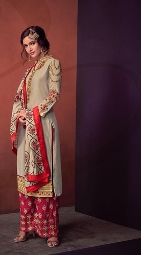 4af74dd10a MEGH CRAFT Exclusive Designer Festive Wear Suit - Wedding Wear Palazzo Suit