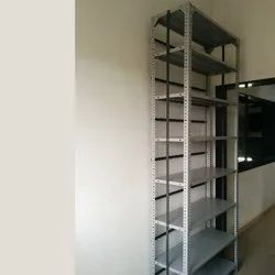 Iron Gray Slotted Angle Rack 1, For Industrial