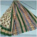 Cotton Bagru Printed Saree With Blouse Piece, Length: 6.3 M
