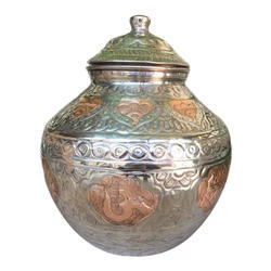 Anand Designer Copper Matka with Lid, For Water Storage
