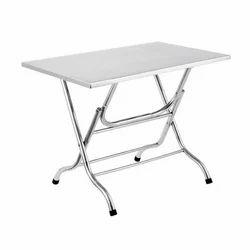 Silver Stainless Steel Folding Table, Rs 400 /kilogram, Krushna Steel  Enterprises   ID: 19131216688
