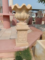 Teak Sandstone Flower Pot