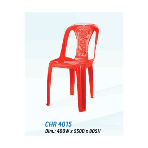 Red Nilkamal Armless Chair