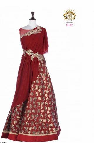 Neeru''s Maroon Color Gown