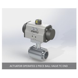 Actuator Operated 2 Piece Ball Valve TC End