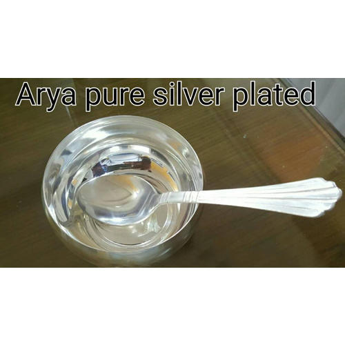 Pure Silver Plated Bowl Set च द चढ य कट र