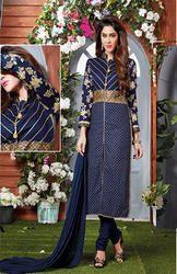 Designer Navy Blue Salwar Suits