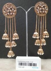 Antique Pearl Jhumka Earrings
