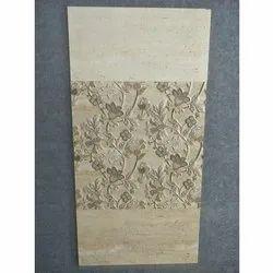 Matt Designer Vitrified 3D Digital Wall Bathroom Tiles, Thickness: 5-10 mm, Size: 600x600 mm