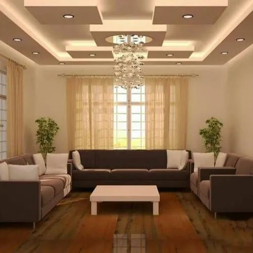 Living Room False Ceiling Designing Services in New Delhi ...