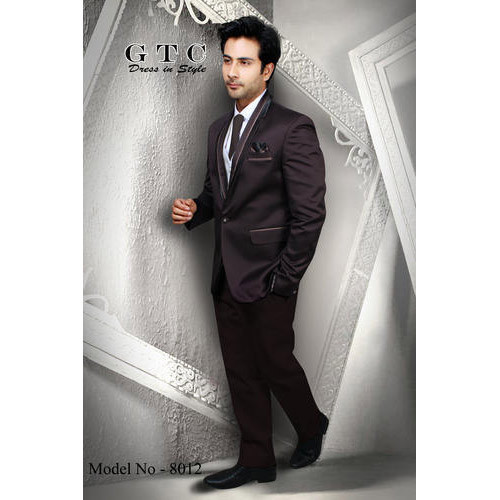 fec22f8c9a45 Men's Plain Dark Brown 3-Piece Suit, Size: S, M And L, Rs 9500 ...