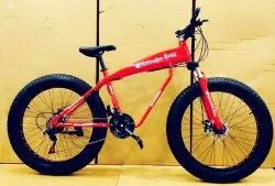 Mercedes Benz Red Shark Fat Tyre Cycle
