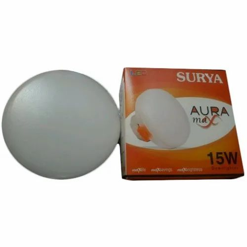 Plastic 15 W Surya LED Downlight For Deep and Conceild