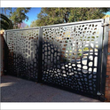 Grey Precise Fabrication Cnc Metal Cutting Gate Mcg-09