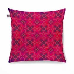 Enchanting Flower Motif Cushion Cover