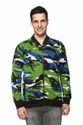 Fashionable Men Cemo Print Zipper Sweatshirt