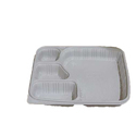 4 Compartment Milky Plate