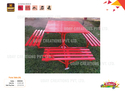 Red Metal Outdoor Garden Picnic Table - Iii